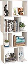 LYLSXY Floating Shees,Shelf Wooden 4 Tier Bookcase