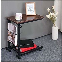 LYLSXY Overbed Table,U-Shaped Side Table Height