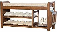 LYLSXY Shoe Rack,Premium Vintage Wooden Shoes