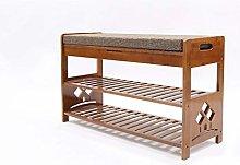 LYLSXY Shoe Storage Rack Wooden Bench Versatile