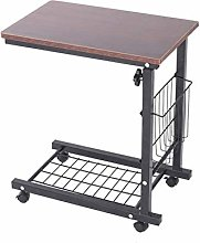 LYLSXY Tables,Mobile Lap Table Height Adjustable
