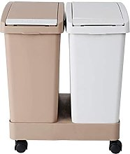 LYLSXY Trash Can,Double Recycling Trash Can,2 X