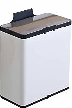 LYLSXY Trash Can,Hanging Trash Can,Stainless Steel
