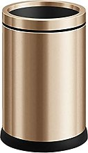 LYLSXY Trash Can,Stainless Steel Dustbin -