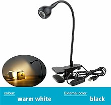 LYLSXY USB Power Supply Desk Lamp,with Clip Holder