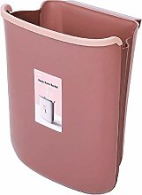 LYLSXY Waste Bin,Trash Can, Home Fold Cabinet Door