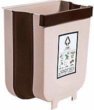 LYLSXY Waste Bin,Trash Can, Wall-Mounted Home Fold