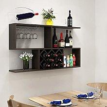 LYLSXY Wine Racks,Wall-Mounted Wood Assembly Bar