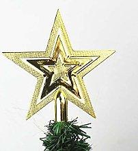 LYLY 9/14/18cm Gold Star Christmas Tree Top Star
