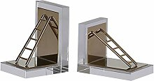 LYLY Bookends Decorative Metal Book Ends Heavy