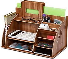 LYLY Desk Organiser Wood Desk Organizer Office