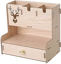 LYLY Desk Organiser Wooden Desk Organizer with