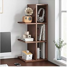 LYLY Desktop Bookshelf Wood Desk Organizer