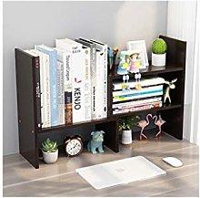 LYLY Expandable Wood Desktop Bookshelf Desk
