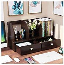 LYLY Multifunctional Desktop Bookshelf Wood Desk