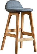 LYLY Solid Wood Bar Stool Modern Bar Chairs High