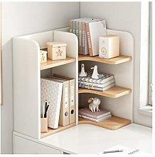 LYLY Wood Desktop Bookshelf Countertop Bookcase