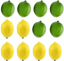 lynn 12pcs Fake Fruit Lemons Artificial Simulation