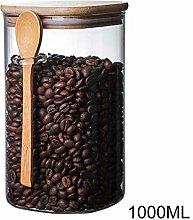 Lynn Airtight Storage Glass Coffee Bean Spice