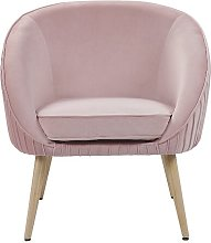 Lynn Tub Chair Norden Home Upholstery Colour: Pink