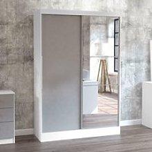 Lynx White and Grey 2 Door Sliding Wardrobe with