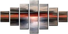 Lynxart 7 Panel Total Size 160x90cm Large Digital
