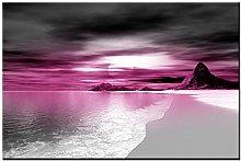 Lynxart Gravity New Pink Colour wall art Large