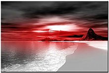 Lynxart Gravity New Red Colour wall art Large room