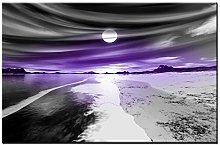 Lynxart - Pearl - New black grey purple 1 panel