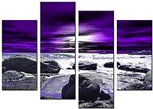 Lynxart - Purple Fink- New black grey purple mauve