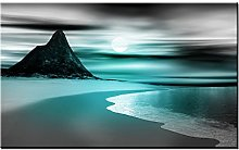 Lynxart – Sandybay 2 - New Teal grey wall art