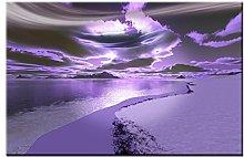Lynxart - Santacruz - New grey purple mauve lilac