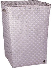 Lyon Laundry Bin Handed By Colour: Pale Grey/Nude