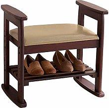 LYQQQQ Ottoman 2 Layer Change Shoe Bench