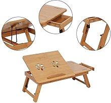 lyrlody Adjustable Bed Lap Desk with Retractable