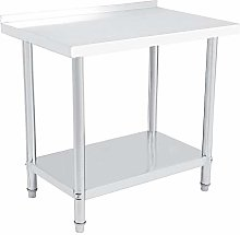 lyrlody- Catering Table,2 Layer Heavy Duty Work