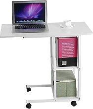 lyrlody Computer Desk, Movable Cmoputer Table Over