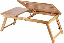 lyrlody Computer Desk,Portable Wooden Bamboo