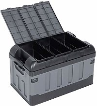 lyrlody Foldable Plastic Car Boot Organiser with