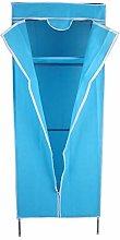 lyrlody Folding Fabric Canvas Wardrobe, Single