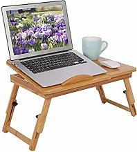 lyrlody Laptop Desks,Portable Wooden Laptop Table
