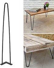 lyrlody Metal Table Legs,4Pcs Heavy Duty Double