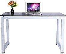 lyrlody Modern Steel Frame Computer Desk,Wooden