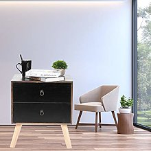 Lyrlody- Small Modern Side Table with Drawers,
