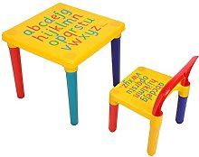 lyrlody Table Chair Set, Childrens Table and Chair