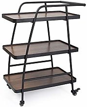 LYRWISHJD Drinks Cocktail Trolley Serving Cart