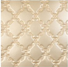 LYRWISHMJ Faux Leather Fabric Quilted Leather