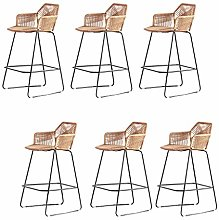 LYRWISHPB Bar Stool Cafe Restaurant Chair For