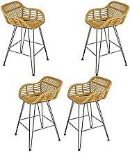 LYRWISHPB Bar Stool with Footrest &Back High Bar