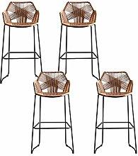 LYRWISHPB Bar Stools Rattan Furniture Classic